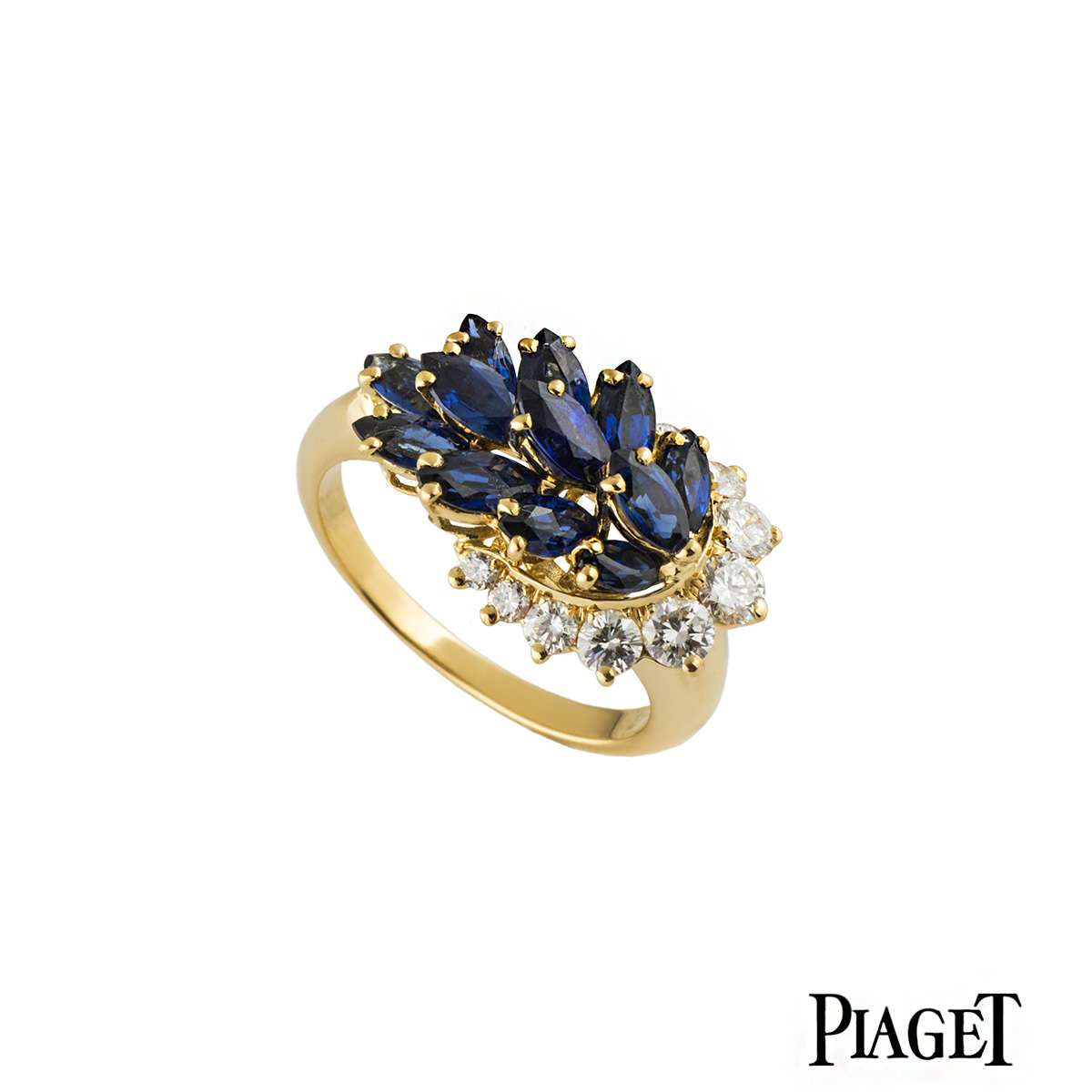 Piaget Diamond and Sapphire Dress Ring